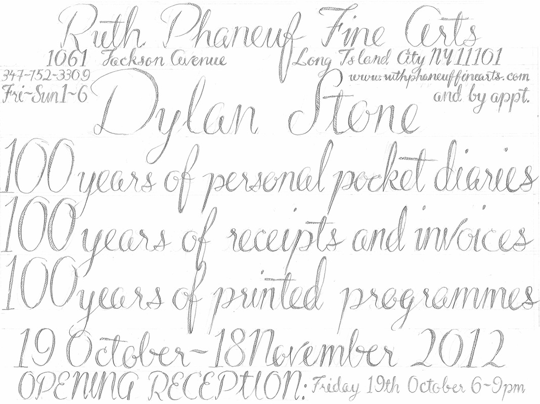 Dylan Stone: 100 Years of Personal Pocket Diaries