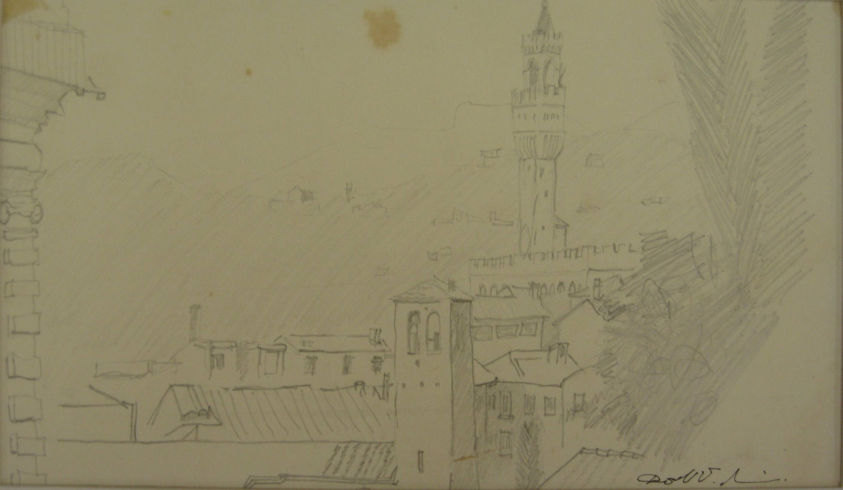 Sketch of Florence, GSA Summer School, c1967-68