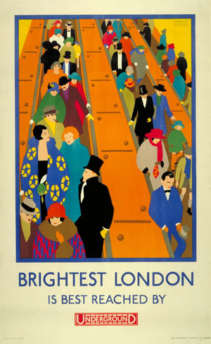 Brightest London, London Underground Poster, 1924