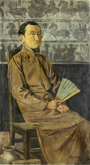 A portrait of Chen Shizeng by Li Yishi painted in 1920 Photo: Courtesy of CAFAM