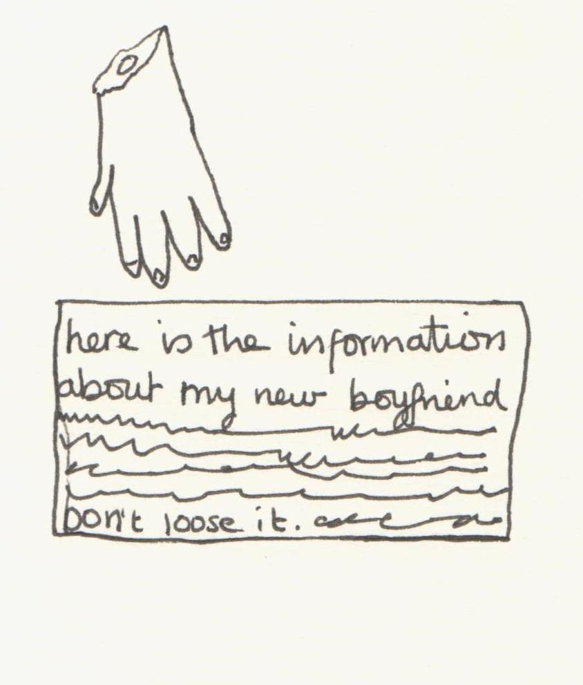Detail from David Shrigley piece in GSA Archives and Collections