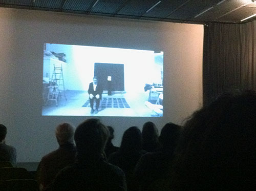 screening of 'Archive Of The New' a film collaboration by Bruce McLean, Donald Smith, and Debra Welch at White Cube Bermondsey