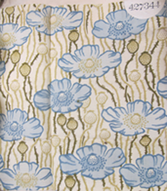 'Poppyland' furniture fabric registered by Liberty, February 1904 (BT 50/536/427344). Image courtesy National Archives
