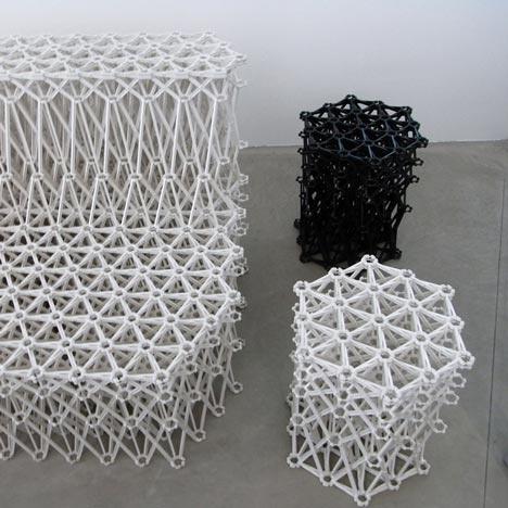 Japanese designer Yuya Ushida uses mechanical engineering to generate his XXXX furniture range for Dutch brand Ahrend.
