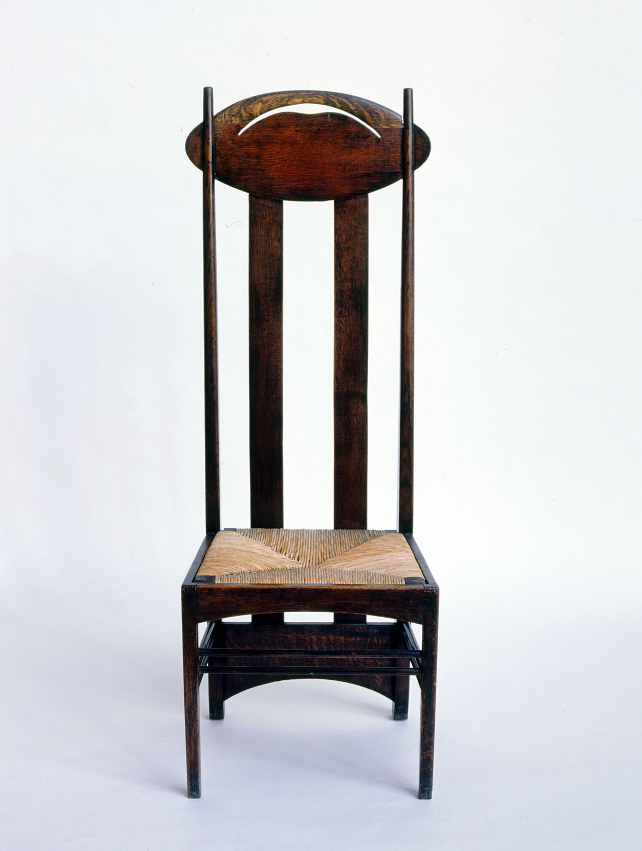 Argyle High Back Chair, designed by Charles Rennie Mackintosh for 120 Mains Street, Glasgow and also for the Luncheon Room, Argyle Street Tea Rooms, Glasgow, 1897
