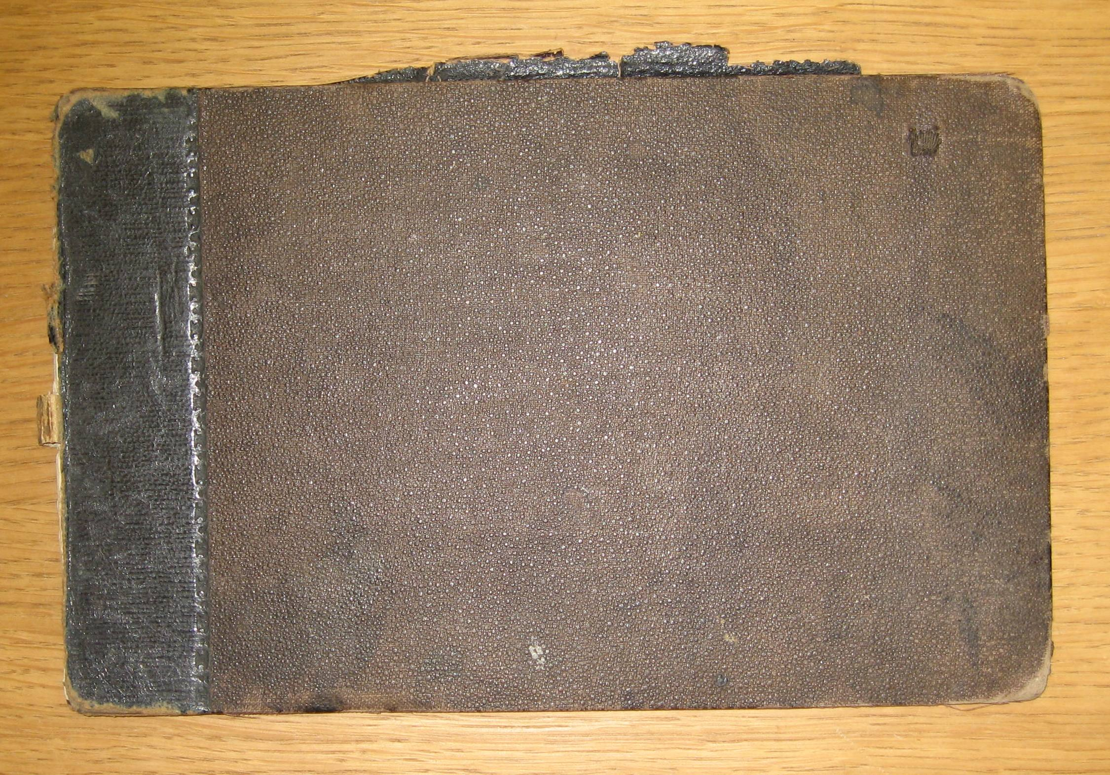 Robert Brydall's sketchbook, 1873. The unassuming cover belies the charming landscape sketches within