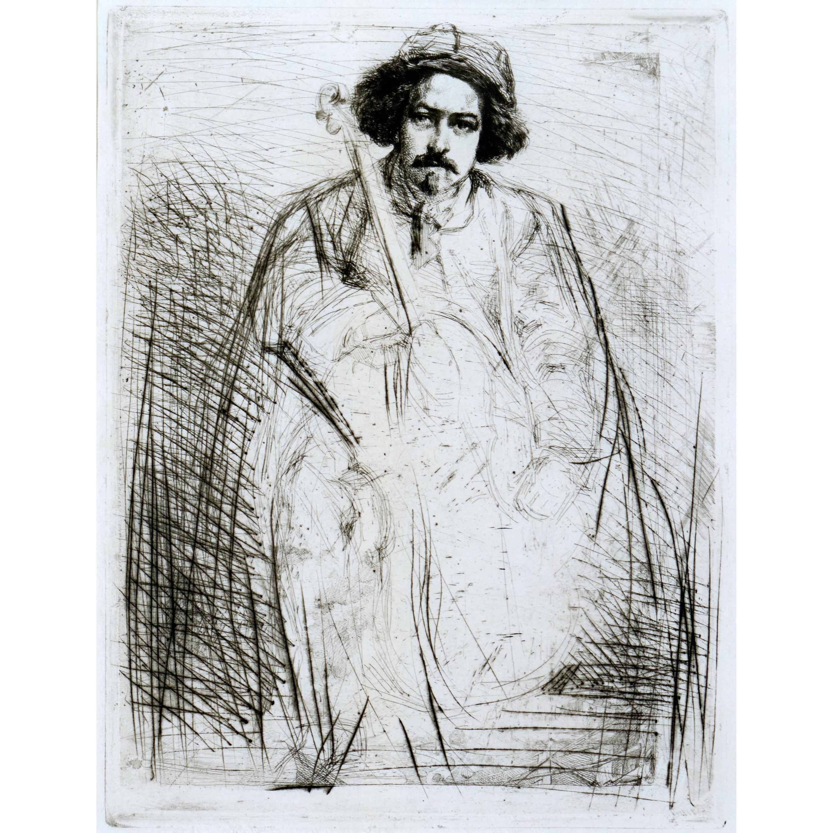 The Fiddler (Becquet), by James Whistler, 1859.