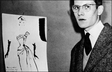 A prize-winning design for a cocktail dress caught the eye of the Dior fashion house in 1954 and the teenage Yves Saint Laurent's career in Paris was assured.