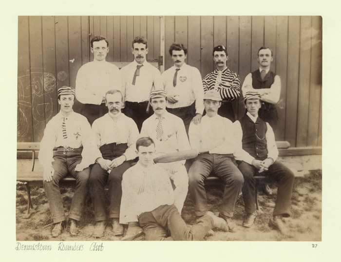 DB/87, Photograph of Dennistoun Rounders Club, by Duncan Brown, mid-late 19th century