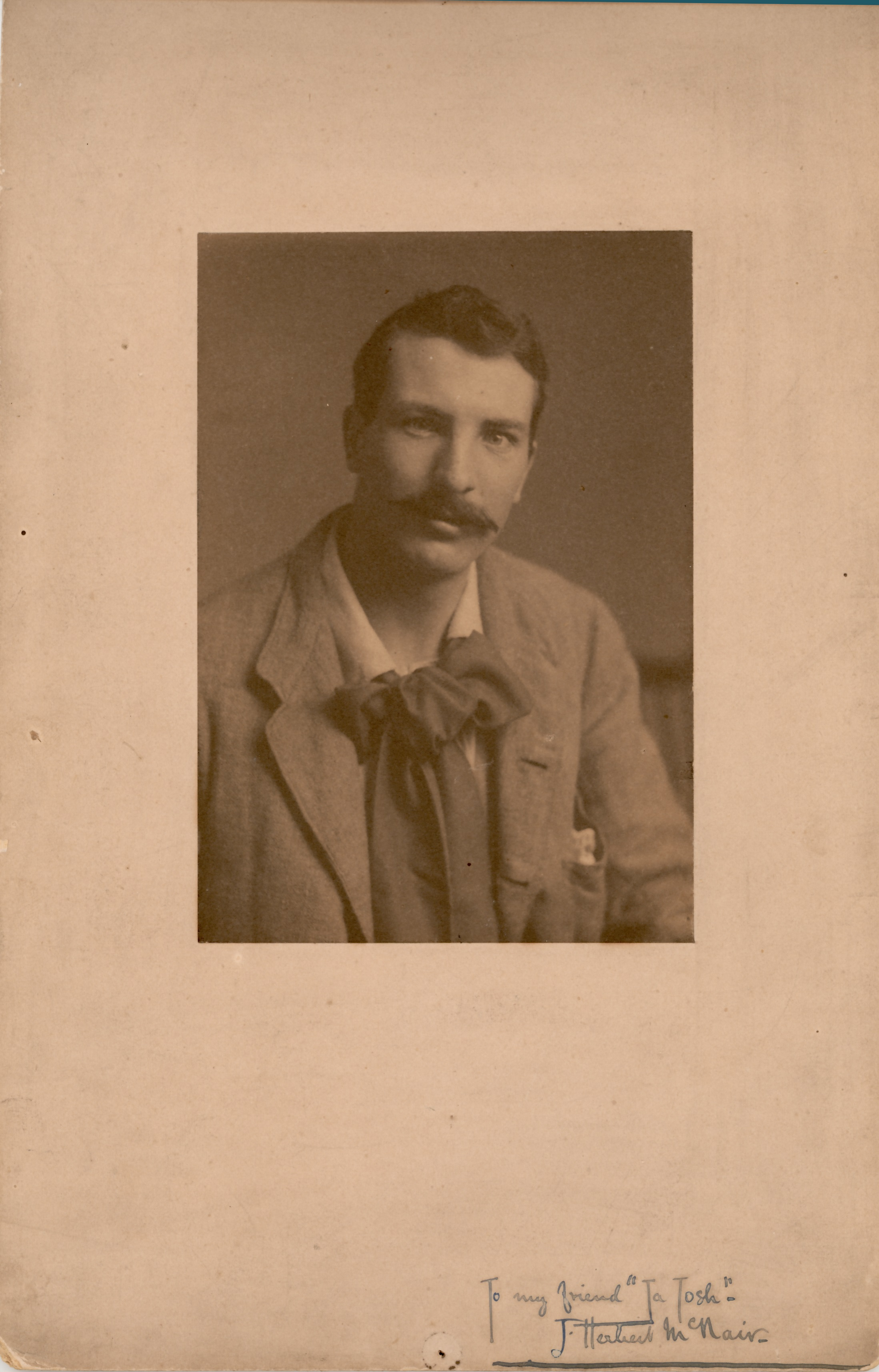 Portrait of Herbert McNair, late 19th-early 20th century