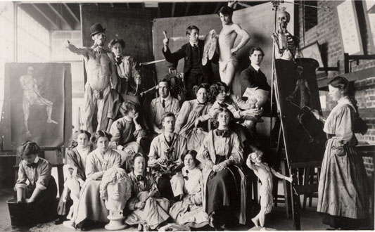 GSAA/P/1/783 – Photographs of students in the Anatomy Room, c1910