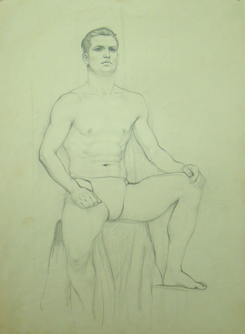 Life drawing by Gerard Murphy, GSA student, 1930s