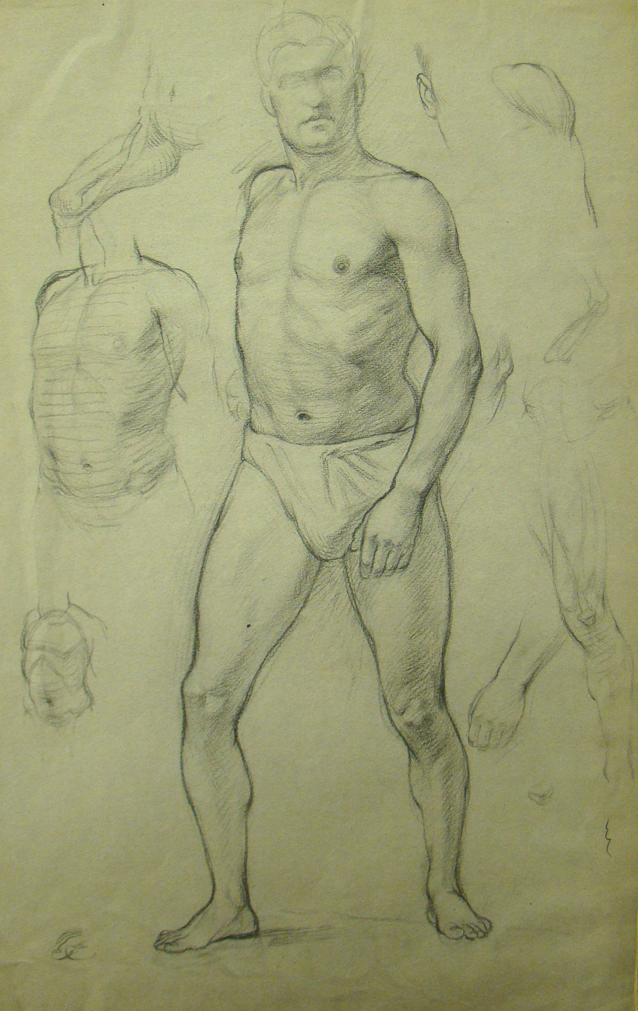 Another life drawing by Gerard Murphy - notice the life model is the life model in the photograph below!