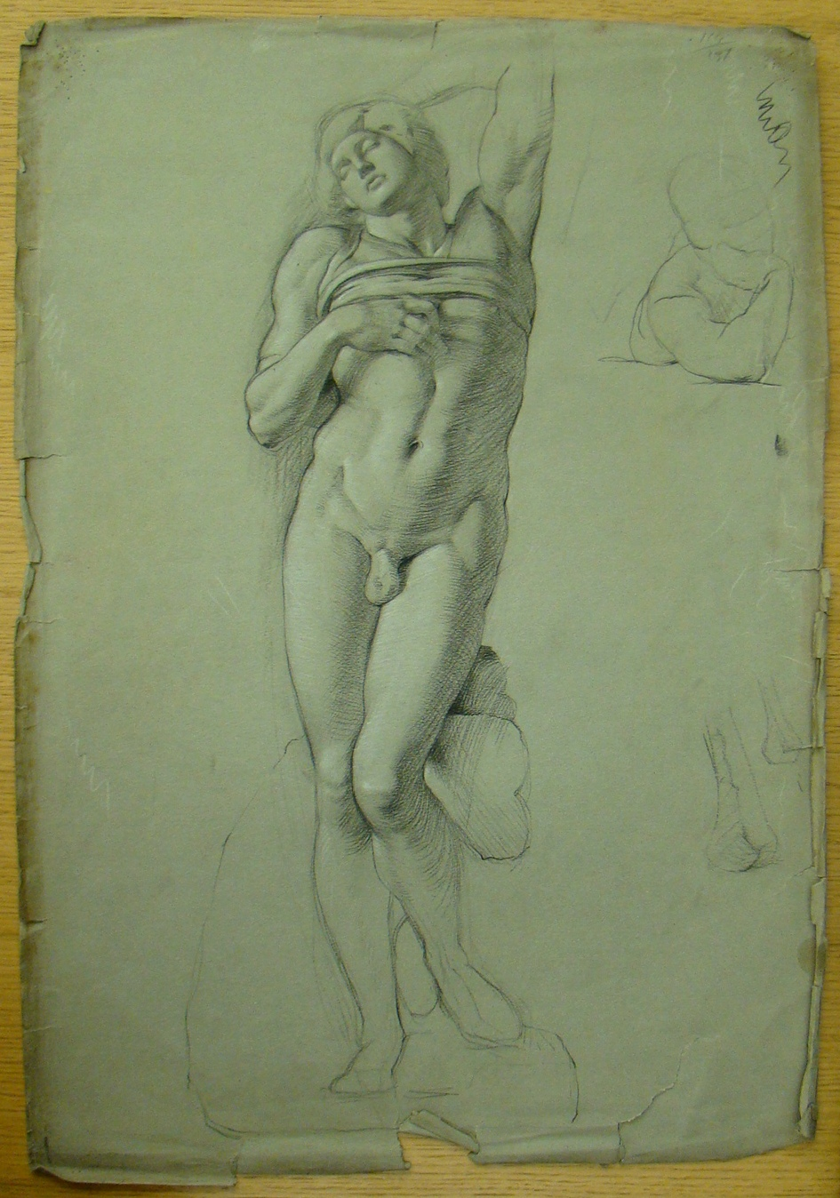 Gerard Murphy's drawing of GSA's cast of Michelangelo's Slave