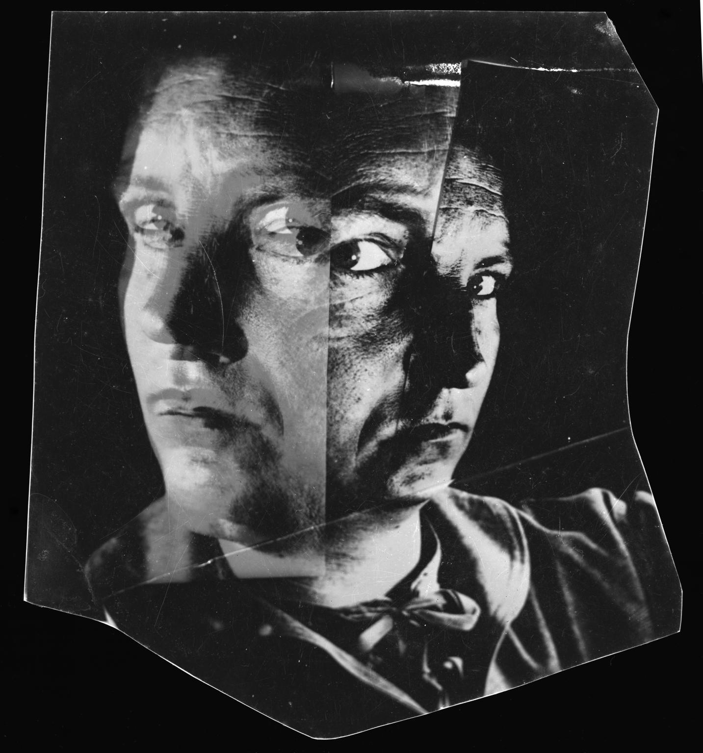 Photograph showing distorted image of Nigel Henderson by Nigel Henderson 1917-1985; © Nigel Henderson Estate, Photographic Rights © Tate 2014, CC-BY-NC-ND 3.0 (Unported), http://www.tate.org.uk/art/archive/TGA-9211-8-1-17-3-1