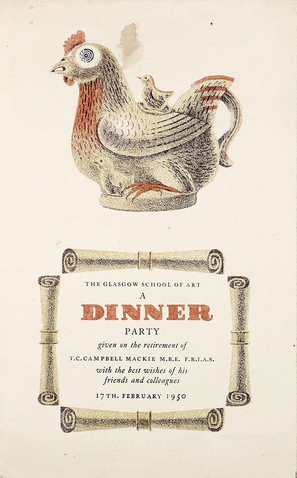 A Dinner Invitation, GSAA/EPH/1/1920s/9a