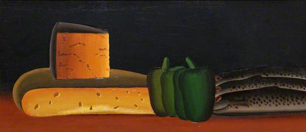Still Life with Fish by Jack Knox. Image courtesy of BBC Your Paintings