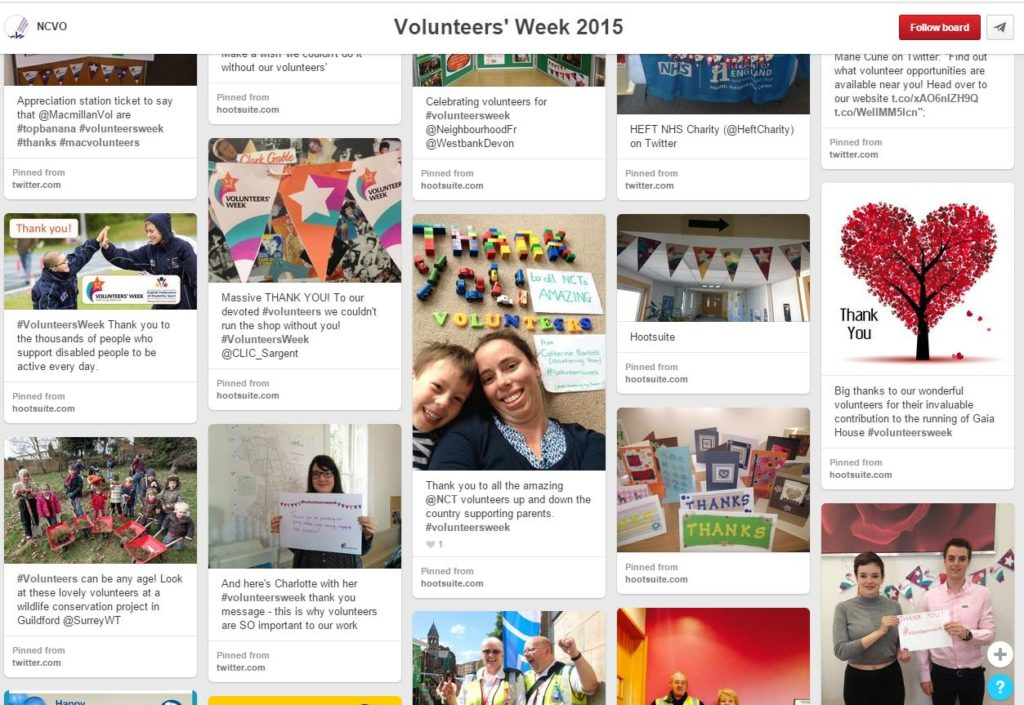 Volunteers' Week 2015 Pinterest Board