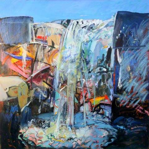 Duncan Shanks 'Waterfall'. Image courtesy of BBC Your Paintings