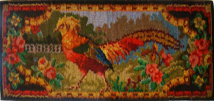 Pictorial tapestry rug featuring a pheasant (Archive Reference: DC/77/2)