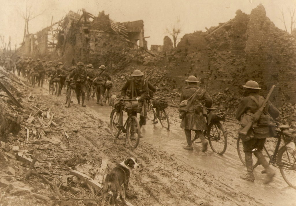 Canadian Corps Cyclist Battalion, image courtesy of Canadian Cycling Magazine, Remembrance Day Special