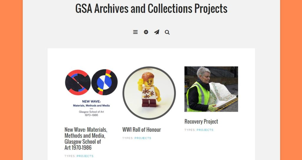 GSA Archive Projects Website