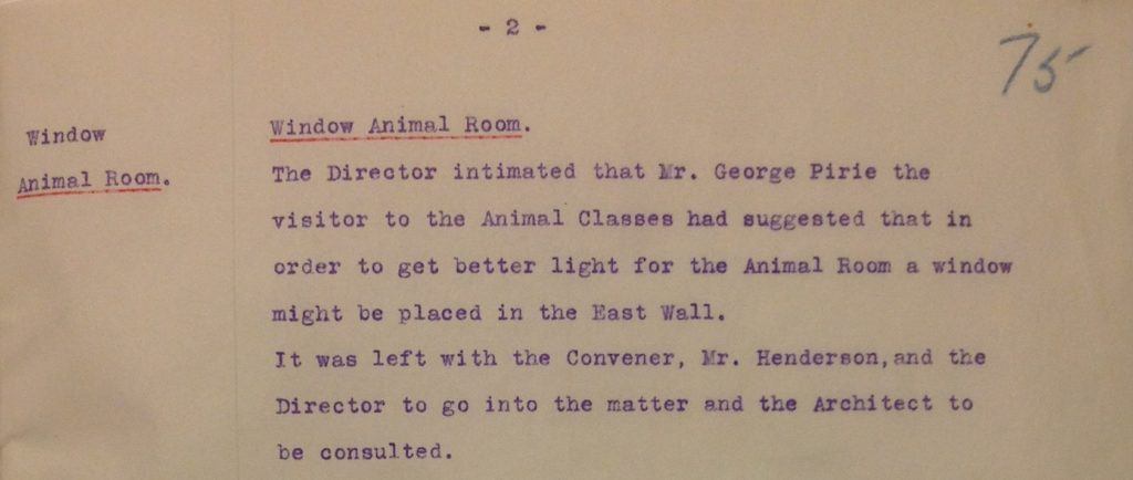 Extract from Meeting of Finance Committee 11 Dec 1913 (Archive reference: GSAA/GOV/2/9)