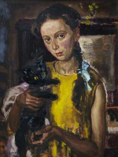 'Anne with Kitten' by John Charles Lamont. Image courtesy of Art UK