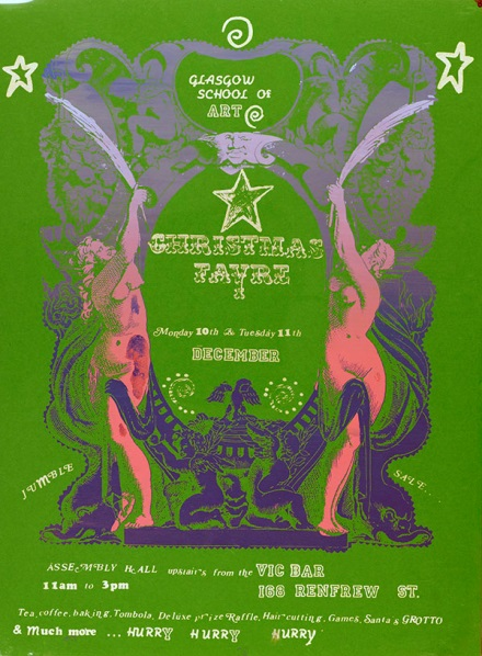 Poster for The Glasgow School of Art Christmas Fayre, 1990 (Archive reference: GSAA/EPH/10/4)