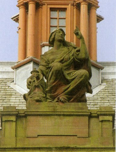 Johan Keller, Religion, Locharbriggs sandstone, Kelvingrove Art Gallery and Museum, Image courtesy of The Flower and the Green Leaf, p.121