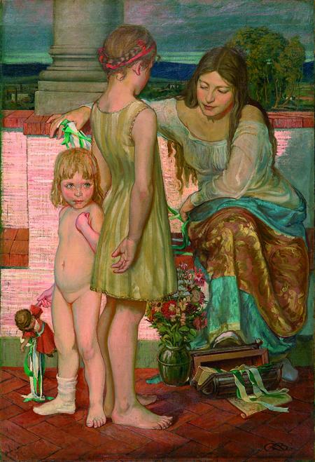 Mère et ses deux filles by George Baltus 1913. Image courtesy of Vincent Lécuyer