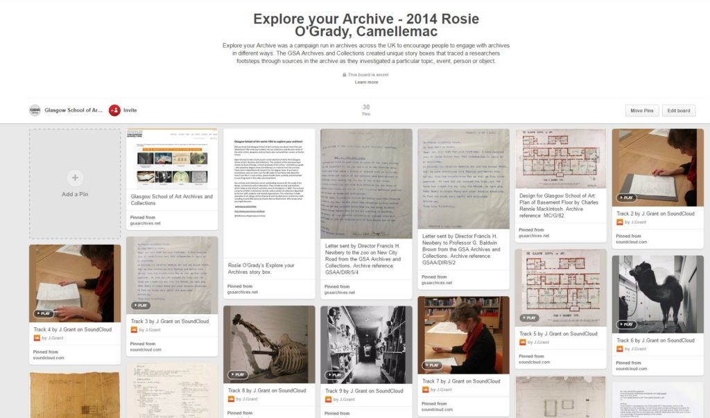 Explore your Archive - 2014 Rosie O'Grady, Camellemac