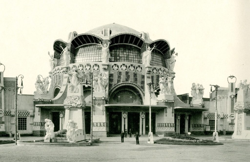 Principle Building for the International Exhibition of Modern Decorative Art in Turin 1902, Designed by Raimondo D'Aronco, The Glasgow School of Art Archives and Collections, (Archive Reference GSAA/EPH/8/10-11)
