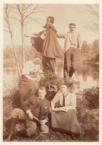A photograph of the group known as 'The Immortals', GSA Archives and Collections (archive reference: DC/4/9/1)