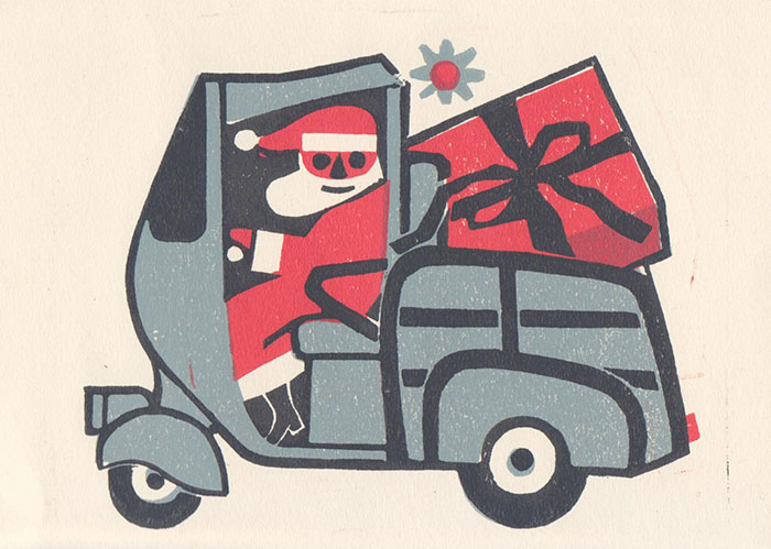 Untitled Christmas Card, c1990 by Conrad McKenna, GSA Archives and Collections (archive reference: DC073/1/1)