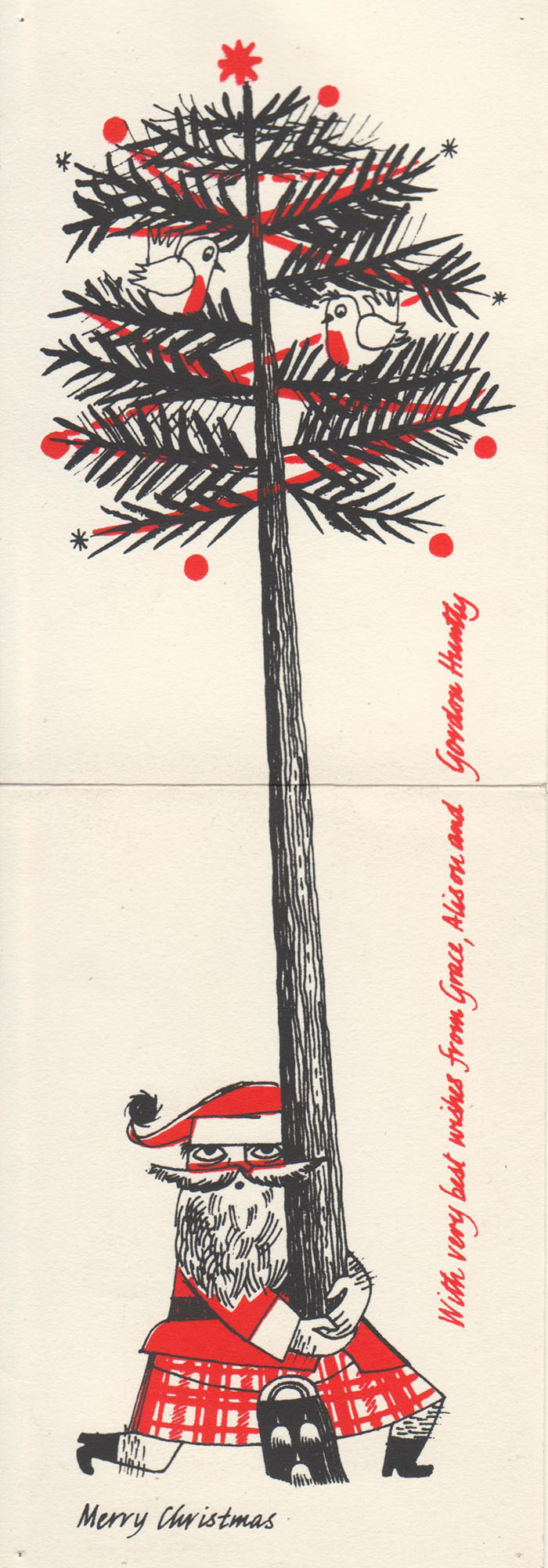 Merry Christmas, c1960s-1970s, by Gordon F Huntly, GSA Archives and Collections (archive reference: DC073/1/35)