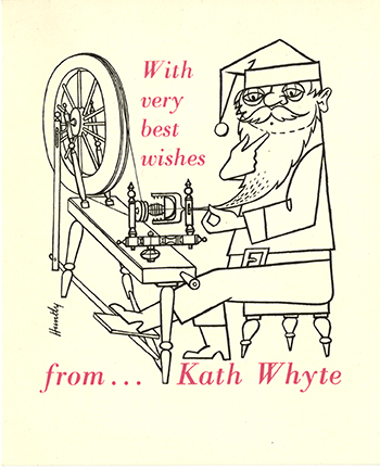 Christmas Card from the Papers of Kath Whyte, GSA Archives and Collections (archive reference: DC/029/5/2/3a)
