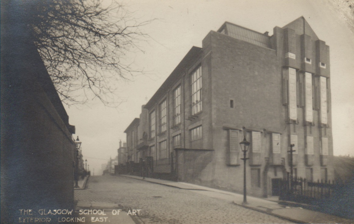 Photograph of the Western facade of the Mackintosh Building, GSA Archives and Collections (archive reference: GSAA/P/7/51)