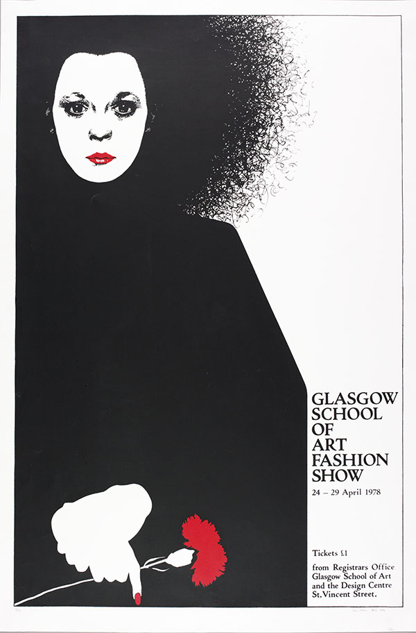 Poster for GSA Fashion Show 1978 which is part of the exhibition. (Archive Reference GSAA/EPH/10/58)