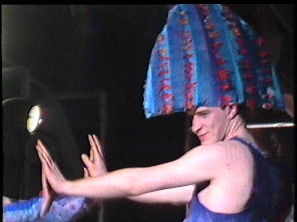 Still frame image from the 1986 GSA Fashion Show film footage. This material is currently being catalogued by our Skills for the Future Trainee Jennifer Lightbody. Read Jennifer's introduction to her project here.