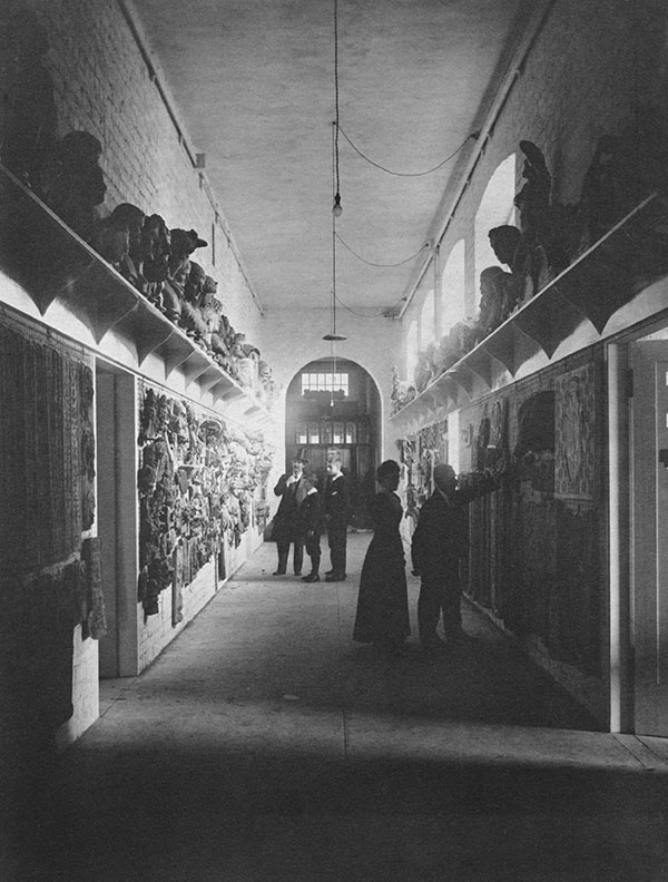 Basement corridor of the East wing, T&R Annan & Sons Ltd, c1900. (Archive Reference GSAA/P/1/23)