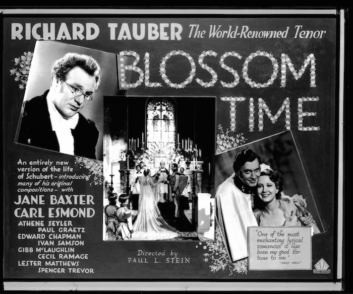 Poster for 'Blossom Time: A Romance to the Music of Franz Schubert', 1934. Image courtesy of Network on Air