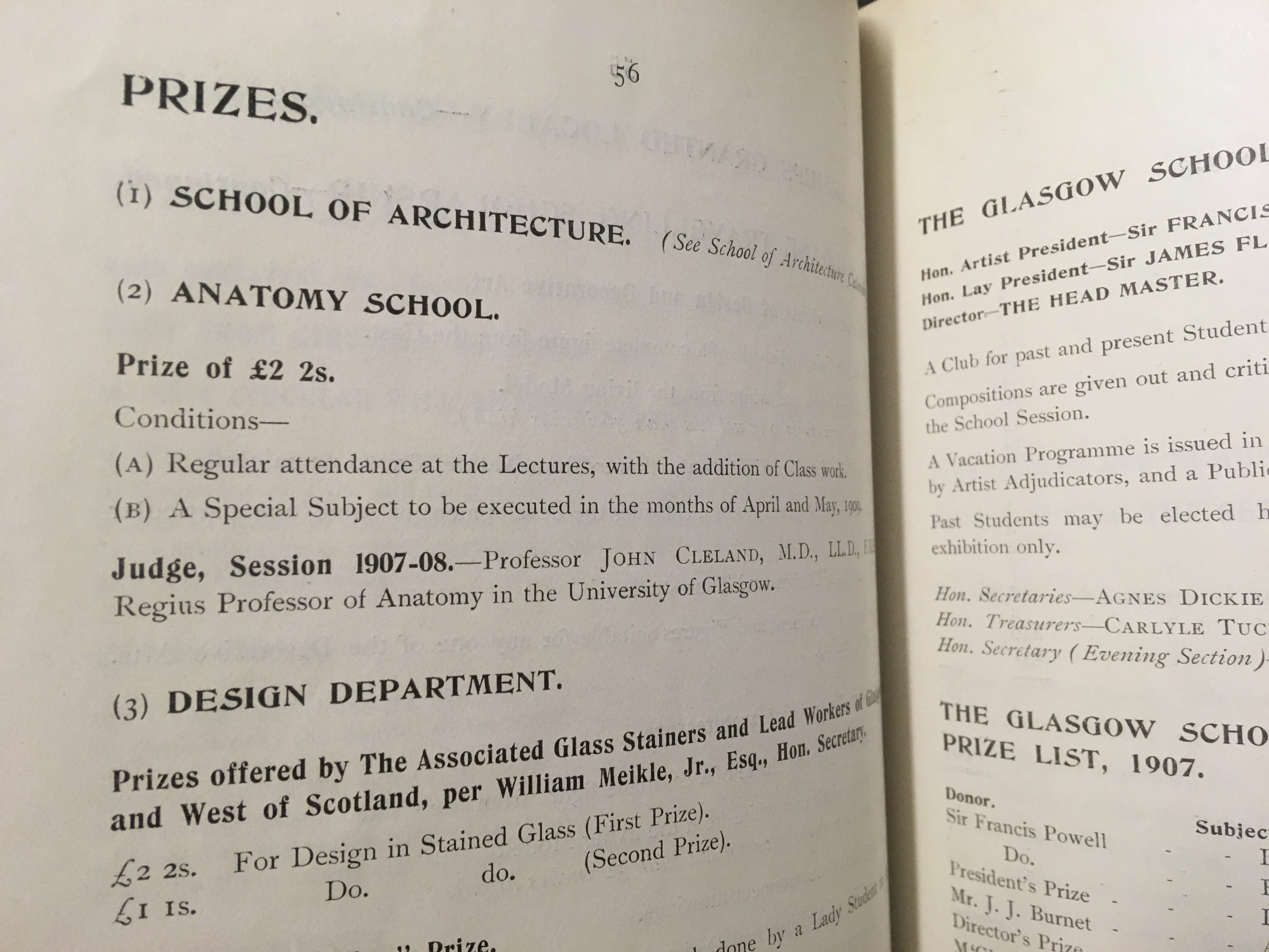 Interested in researching the history of prize winners? Why not visit the Archives and Collections and research them from our Prospectuses and Annual Reports. (GSAA/GOV/1 and GSAA/REG/1)