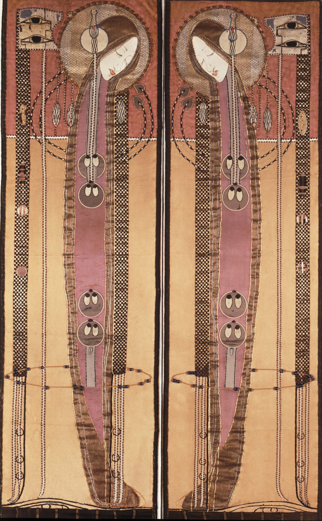 Embroidered panels by Margaret Macdonald, c1902-1904 (Archive Reference: MC/A/01)