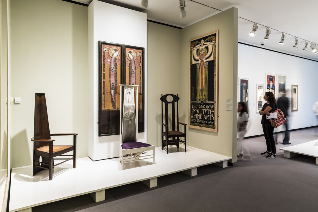Pieces from our Mackintosh Collection being exhibited at the Fundación Juan March in Madrid. Image Courtesy of Rocío Chillida Bergareche.