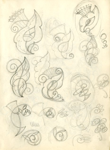 Sketchbook page from NMC/622