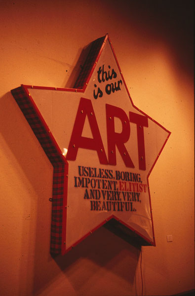 This is Our Art, by Ross Sinclair, 1987