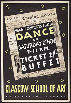 Poster for a War Comforts Fund Dance, by Dorothy Smith, 1944